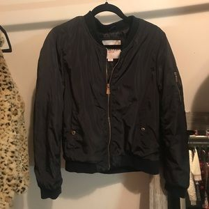Jackets & Blazers - black satin bomber windbreaker jacket s